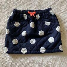Gymboree Girls Navy Quilted Polka Dot Skirt 6