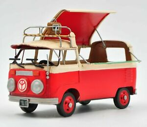 Jayland White & Red Two Tone Classic VW Bus 1/24 Diecast Microbus Collectible NR