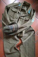 Esercito Italiano Battledress, pantaloni, cappello, Uniforme anni 50 no ww2