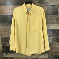 Brooks Brothers Men's Gold Sport Shirt Long Sleeve Button Up Size L