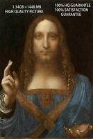Salvator Mundi, Da Vinci,  Original Painting Print on Canvas, Giclee Print
