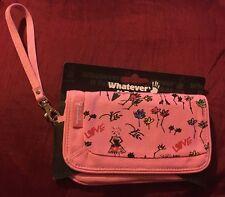 VIVIENNE WESTWOOD COMPACT MIRROR MIRRORED CLUTCH BAG PURSE WALLET FLOWERS PINK