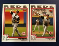 2004 Topps # 482 CHRIS REITSMA # 610 AUSTIN KEARNS Cincinnati Reds Lot 2 Sharp !