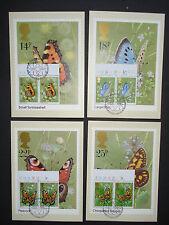 "GB / Great Britain 1981:set maximum cards""butterflies Schmetterlinge"" cpl. RARE!"