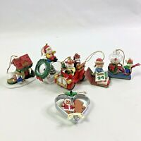 Set of 6 Westmar Christmas Tree Ornaments Firetruck Mice Santa Claus