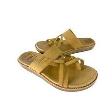 Teva Encanta Beige Tan Leather Sandals Waterproo SlidesWomen's Size 7 EUR 38