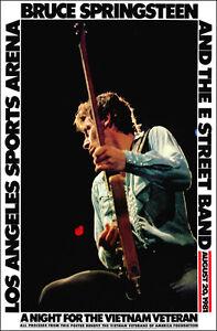 BRUCE SPRINGSTEEN 1981 Los Angeles Concert Poster