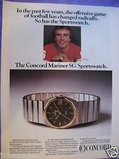 "1983 Concord Watch Ad-8.5 x 10.5 ""-Joe Montana-Concord Mariner SG Sportswatch"