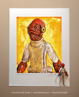 Star Wars ADMIRAL ACKBAR Vintage Kenner Action Figure ORIGINAL ART PRINT 3.75