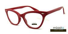 NWT$39.99 MIASTO CAT EYE SEXY READER READING GLASSES+3.00~ POSTAL RED SKEETER