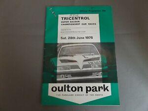 1975 OULTON PARK PROGRAMME 28/6/75 - TRICENTROL SUPER SALOON CAR RACES