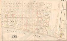1883 NEW ORLEANS LOUISIANA U.S. HOSPITAL AYCOCK ST - SISTER STREET ATLAS MAP
