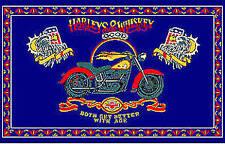 Harley & Whiskey 3x5 Flag