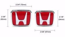 H Honda Logo JDM Red Type-R Acura Civic Accord Integra RSX Emblems Badge Logo