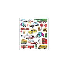 Scrapbooking Crafts Stickers Sticker King Police Car School Tour Bus Train Plane