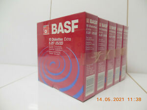 "50x BASF 2S/2D 5,25"" 5 1/4"" Floppy disks Disketten / original verschweißt SEALED"