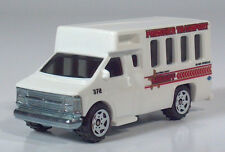 "Matchbox Sheriff Prisoner GM Chevy Transport Bus 3"" Die Cast 1:80 Scale Model"