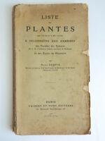 Coupin Liste des plantes que l'on donne à reconnaître aux examens sciences 1910