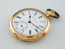 Tiffany & Co. 18k Yellow Gold Pocket Open Face Pocket Watch Size 8