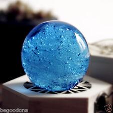 Ocean Heart Handmade Art Glass Ball Paperweight Creative Gift Table Ornaments