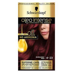 Schwarzkoft Oleo Intense 4-23 Burgundy Red Permanent Hair Dye