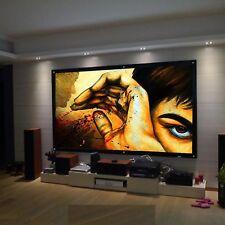 """100"""" pulgadas Pantalla de Proyección Proyector 3D HD 16:9 Blanco Mate Home Cinema"""