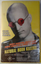 Natural Born Killers VHS 1994 Oliver Stone Original 1995 WB Yellow Themed Large