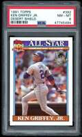 Ken Griffey Jr Card 1991 Topps Desert Shield #392 PSA 8