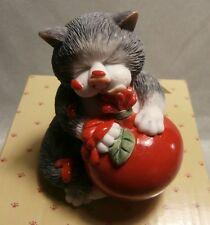 "BORDER FINE ARTS    COMIC & CURIOUS CATS ""SAUCE""  A27685 MINT IN BOX"