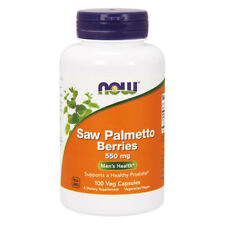 NOW FOODS Saw Palmetto Berries 550mg 250 Capsules - bacche di Serenoa repens