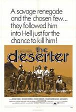 THE DESERTER Movie POSTER 27x40 Bekim Fehmiu Richard Crenna Chuck Connors