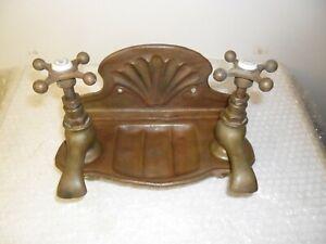 SOLID Brass Original Antique KITCHEN TAPS refurbished vintage reclaimed