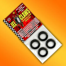 1/43 Scale Carrera GO Formula-1 Slot Car Tires Jelcalws 4pk fits rear