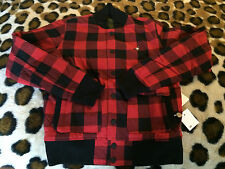 NEW STAPLE Pigeon reversible red lumber jack olive green Jacket mens sz XS