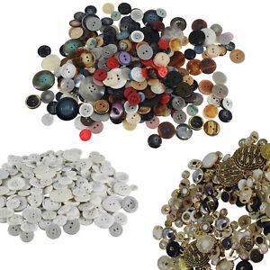 1kg or 5kg Assorted Plastic Buttons Sewing Scrapbooking Card Making Job Lot Bulk