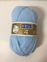 Berella 4 Yarn 3.5 oz Worsted Weight Baby Blue Acrylic