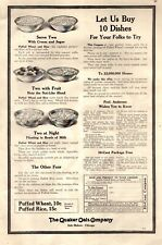 1913 The Quaker Oats Company Let us buy 10 Dishes Vintage Print Ad 1162