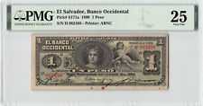 El Salvador, Banco Occidental 1899 P-S171a PMG Very Fine 25 1 Peso