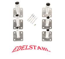 Edelstahl Fahnenhalter Wandhalter 145mm Fahnenmast Doppel-Halter Fackelhalter