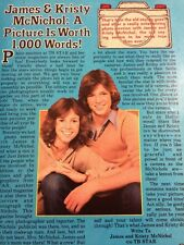 Kristy and Jimmy McNichol, Full Page Vintage Clipping
