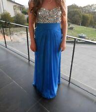 La Femme Blue Sequin Prom Dress US10/AU14
