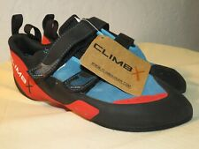 New Climb X Red Point Strap Climbing Shoes Hook and Loop Men 10.5 / Women 12