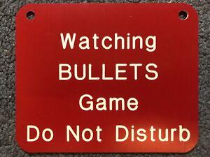 "Watching Washington Bullets Game Do Not Disturb Sign Mid 1990's NBA 5"" x 4"""