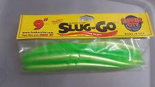 """Slug-go 9""""  lure 8 piece bass tuna Limetreuse  #174 Lime stick bait"""