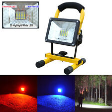 30W 24 LED RGB Portable Rechargeable Flood Light Spot Work Camping Fishing Lamp