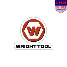 Wright Tool Hand Tools Usa 4 Stickers 4x4 Inch Sticker Decal