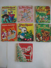 Lot of 7 Vintage Disney Tell-A-Tale Whitman Children's Books 1950's 60's 70's