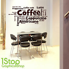 COFFEE TIME WALL STICKER QUOTE - KITCHEN HOME WALL ART DECAL X283