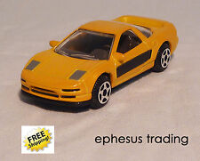 Motormax Motor HONDA Acura NSX Coupe 3.0l Yellow w/Black Interior 1/64 RARE MINT