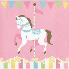 16 Carousel Party Canape Napkins Girls Horse Party Merry Go Round Fairground